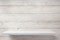 shelf at white plank wooden background - PhotoDune Item for Sale