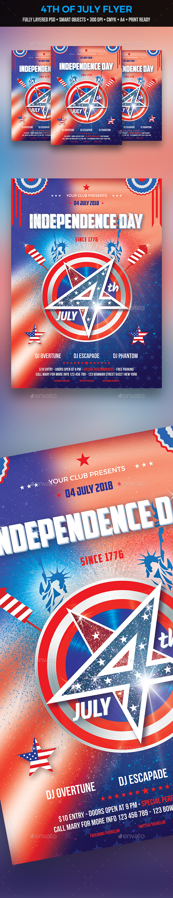 GraphicRiver 4th of July Flyer 20956604