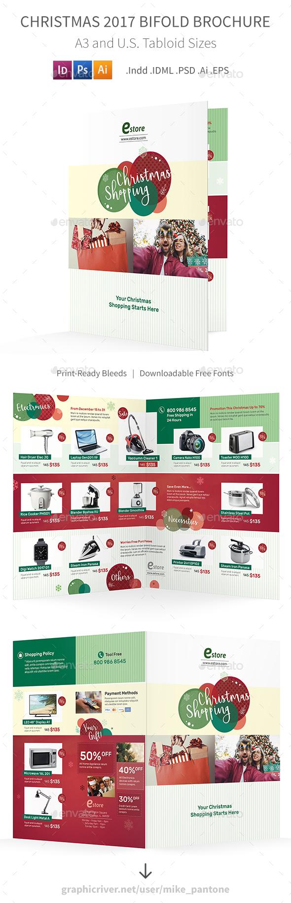 GraphicRiver Christmas 2017 Bifold Halffold Brochure 20956718