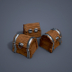 Wooden chests (low poly) - 3DOcean Item for Sale