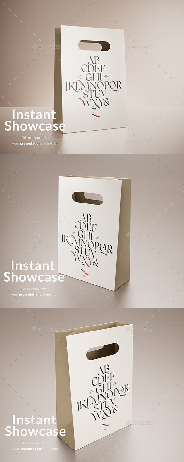Paper Bag Mockup - Product Mock-Ups Graphics