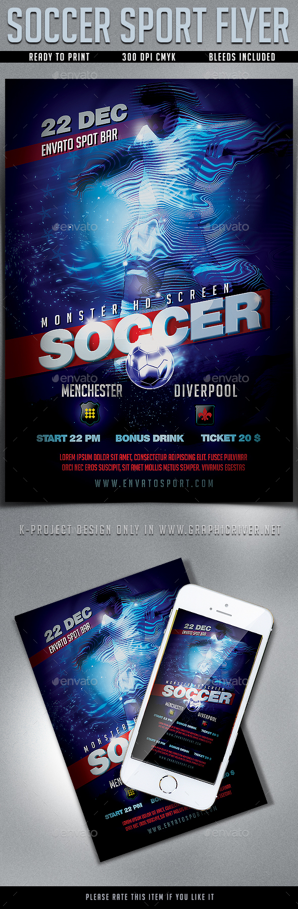 GraphicRiver Soccer Sport Flyer 20956916