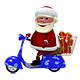 3D  Animation Santa on the Scooter with Alpha Channel - VideoHive Item for Sale