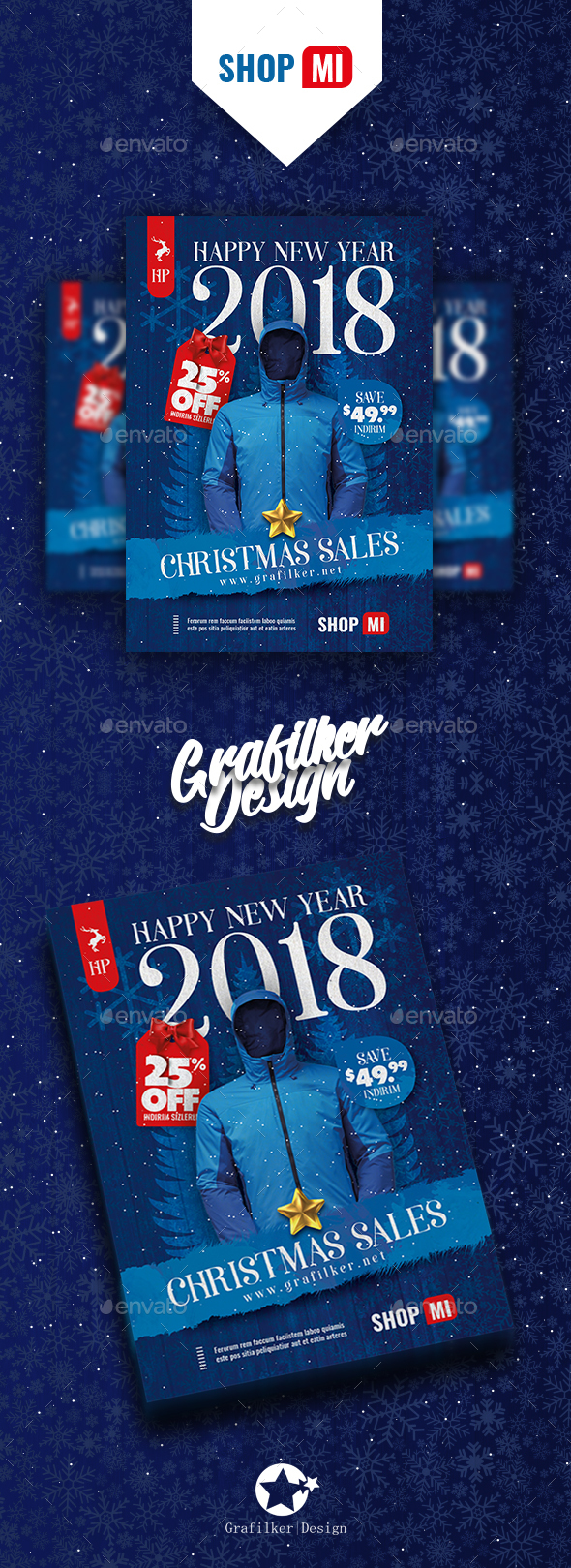GraphicRiver Christmas Sale Flyer Templates 20956956