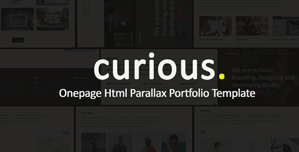 Curious - Onepage Parallax