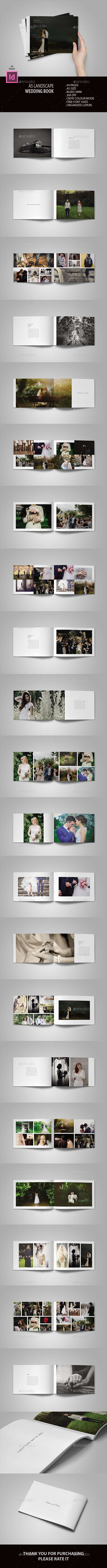 GraphicRiver A5 Landscape Wedding Book 20957062