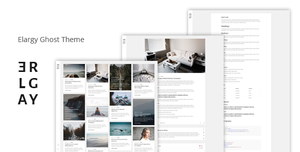 Elargy - Responsive Minimal Ghost Theme