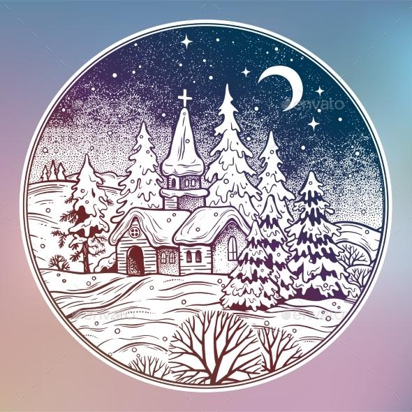 GraphicRiver Snowy Winter Landscape 20957267