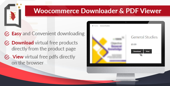 CodeCanyon WooCommerce Downloader and PDF Viewer 20957277