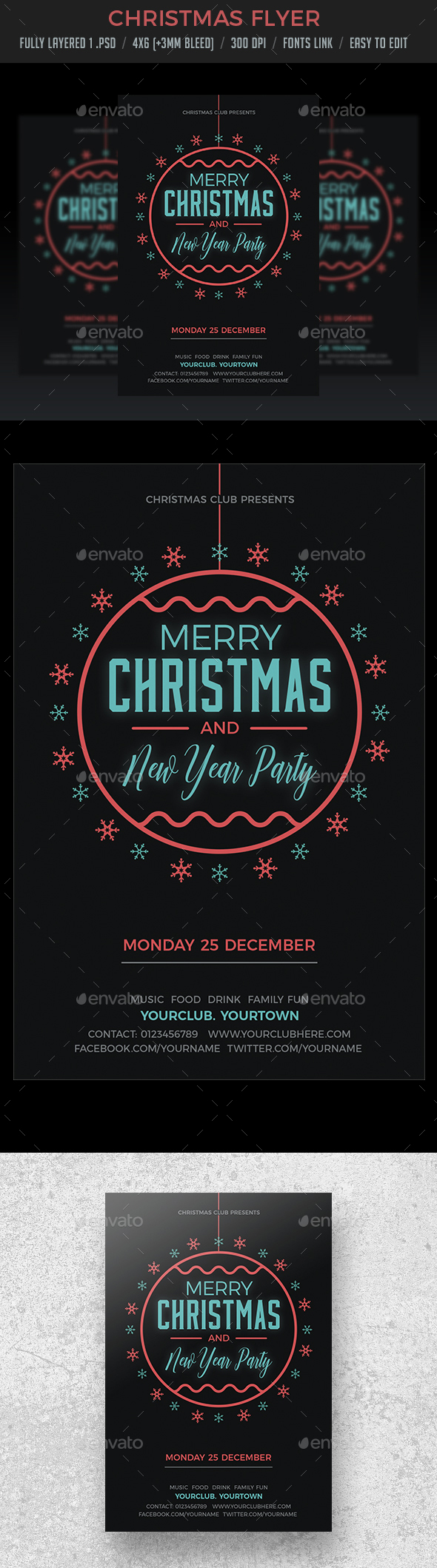 GraphicRiver Christmas Party Flyer Invitation 20957287