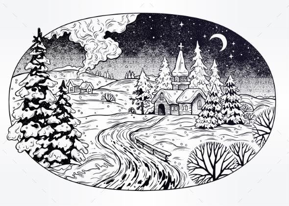 GraphicRiver Snowy Winter Landscape 20957297