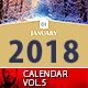 2018 Wall Calendar Minimal Vol.5 - GraphicRiver Item for Sale