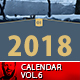 2018 Wall Calendar Minimal Vol.6 - GraphicRiver Item for Sale