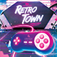 Retro Gaming Flyer III - Classic Gaming Neon Template - GraphicRiver Item for Sale