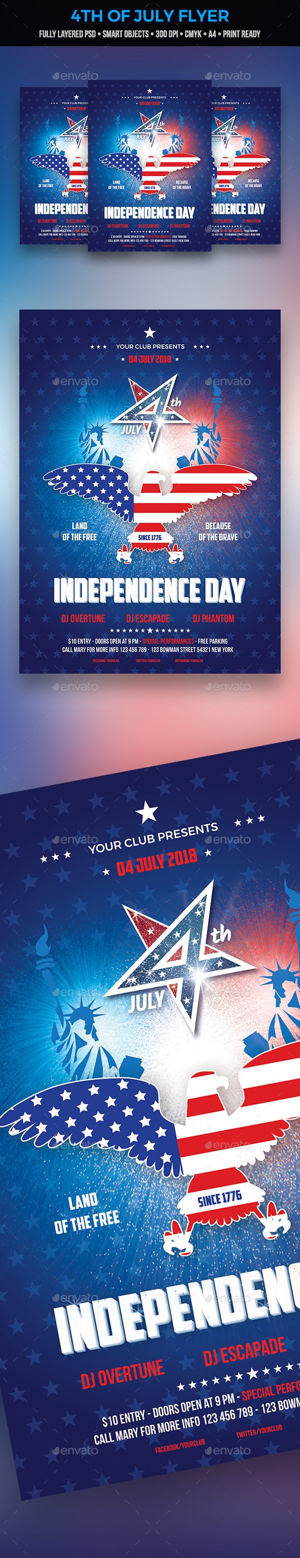 GraphicRiver 4th of July Flyer 20957629
