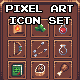 Pixel Art Icon Set - GraphicRiver Item for Sale
