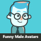 Cartoon Male Avatar Set - GraphicRiver Item for Sale