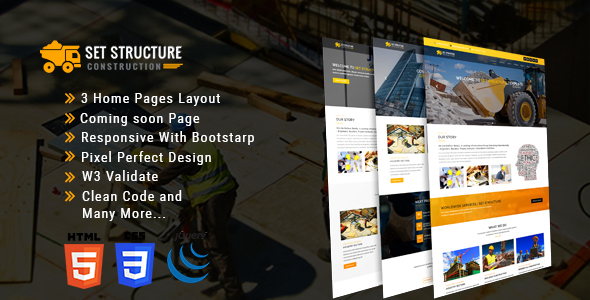 Set Structure - Construction Corporate Business Drupal 8 Theme - Corporate Drupal