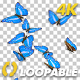 Butterflies - Blue Swarm - Resizable Loop - 4K - VideoHive Item for Sale