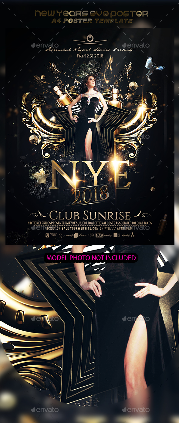New Years Eve Poster - Events Flyers