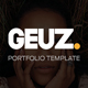 Geuz - Responsive One Page Portfolio Template - ThemeForest Item for Sale