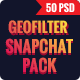 Bundle Promotion Geofilters Snapchat - 50 PSD