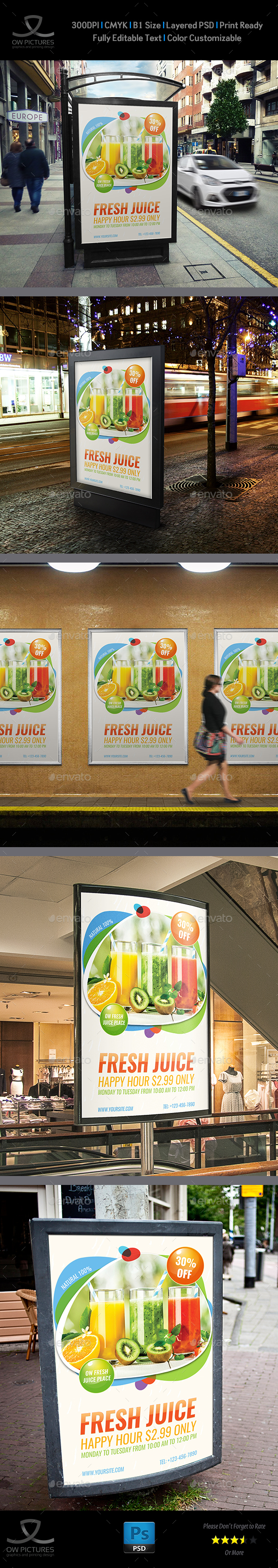 GraphicRiver Fresh Juice Poster Template 20957929