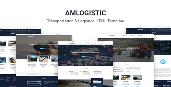 ThemeForest Amlogistic Transportation & Logistics HTML Template 20957984