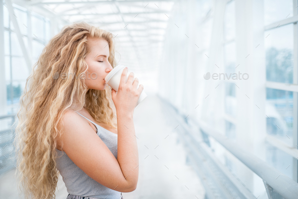 Coffee on the bridge. - Stock Photo - Images