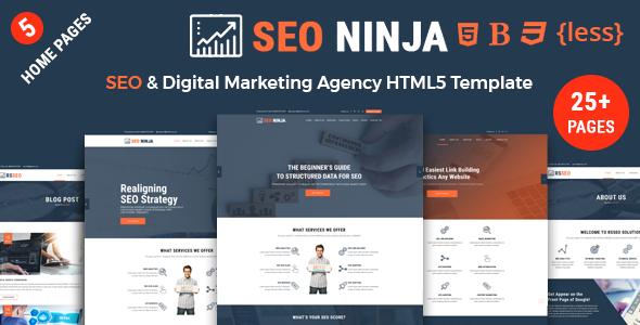 SEO Ninja - SEO and Digital Marketing Agency Responsive HTML Template