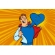 Happy Man Fan, the European Union Heart - GraphicRiver Item for Sale