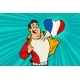Sports Fan Loves France - GraphicRiver Item for Sale
