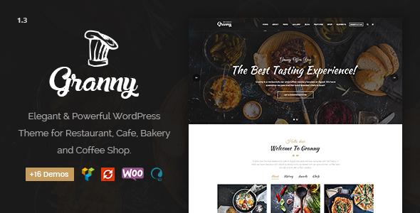 Image of Restaurant Granny - Elegant Restaurant & Cafe WordPress Theme