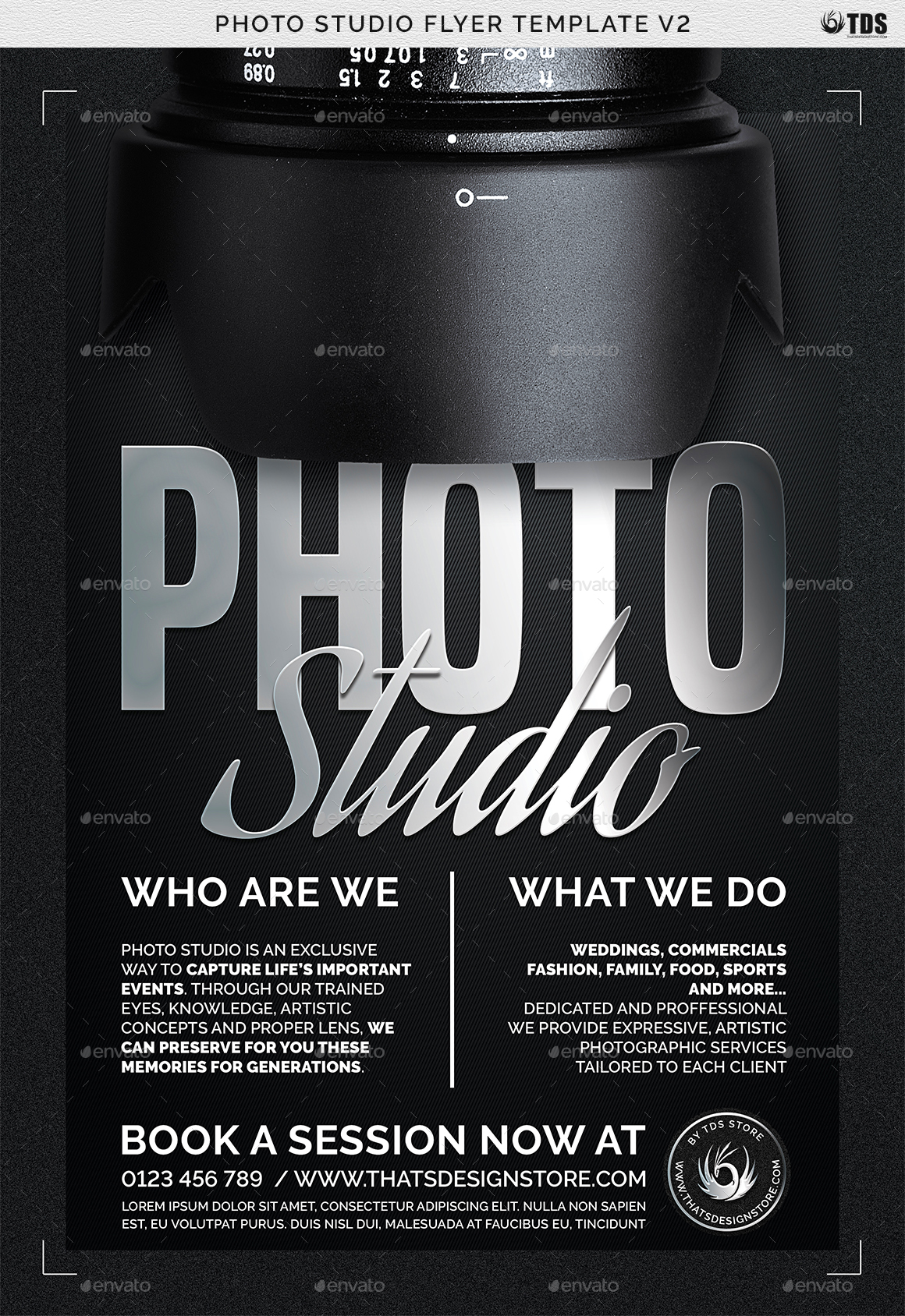 photo studio flyer template v2 by lou606 graphicriver