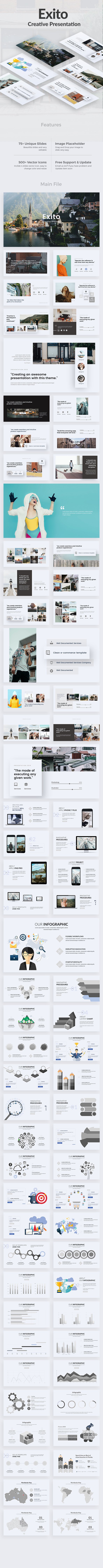 Exito Creative Google Slide Template - Google Slides Presentation Templates