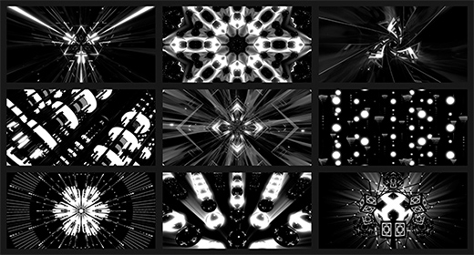 Black And White VJ Loops