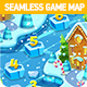 Tileable Seamless Winter Vertical Game Map - GraphicRiver Item for Sale
