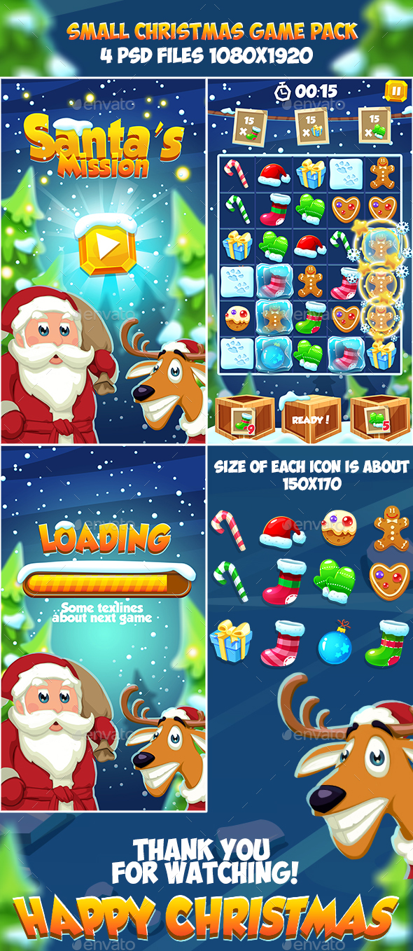 GraphicRiver Christmas 2018 Small Game Pack 20958633