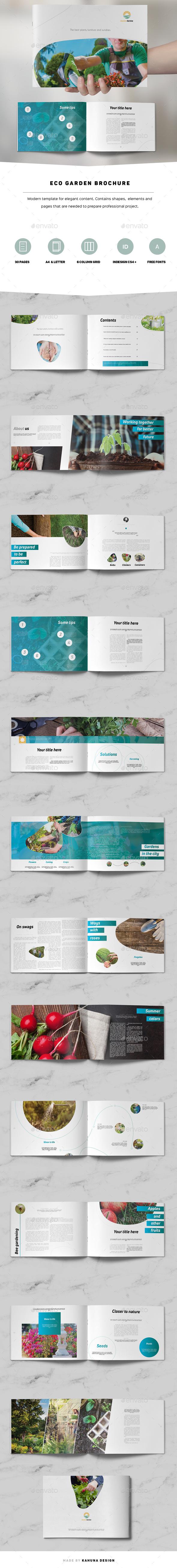 GraphicRiver Eco Garden Brochure Landscape 20958849