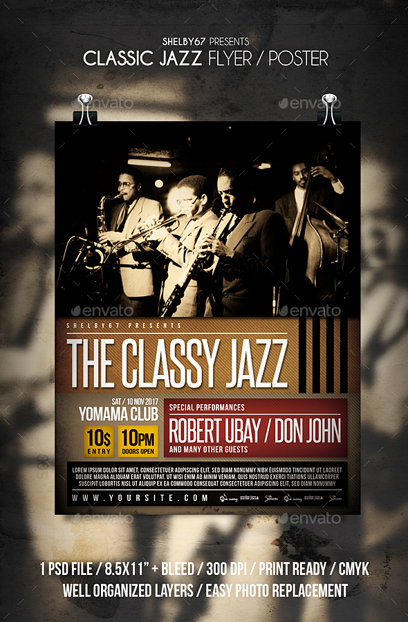 Classic Jazz - Events Flyers
