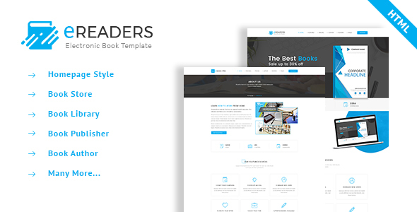 ThemeForest E Readers Books Library eCommerce Store 20958879