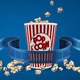 Online Movie With Popcorn And Film Strip Concept - VideoHive Item for Sale