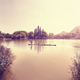 Bamboo raft on a lake in Guilin at sunset, China. - PhotoDune Item for Sale