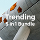 5 in 1 Trending Bundle Powerpoint Template