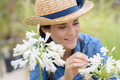 portrait of a young woman with flowers - PhotoDune Item for Sale