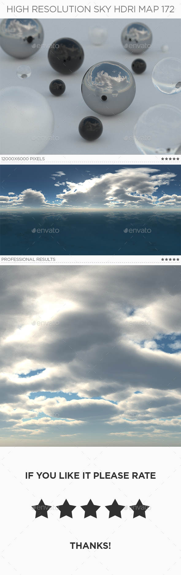High Resolution Sky HDRi Map 172 - 3DOcean Item for Sale