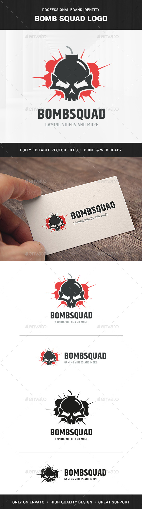 Bomb Squad Logo Template - Humans Logo Templates