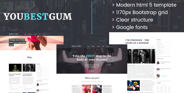 Your Best Gym - HTML5 Template