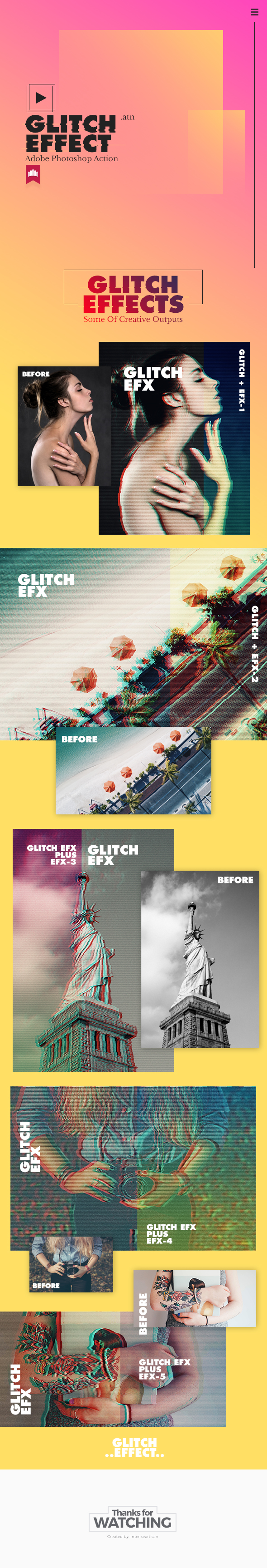 Glitch Action Effect - Photo Effects Actions