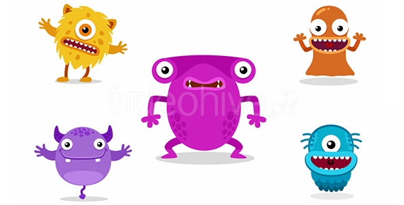 VideoHive Cute Monster Animation Pack 2 20959936